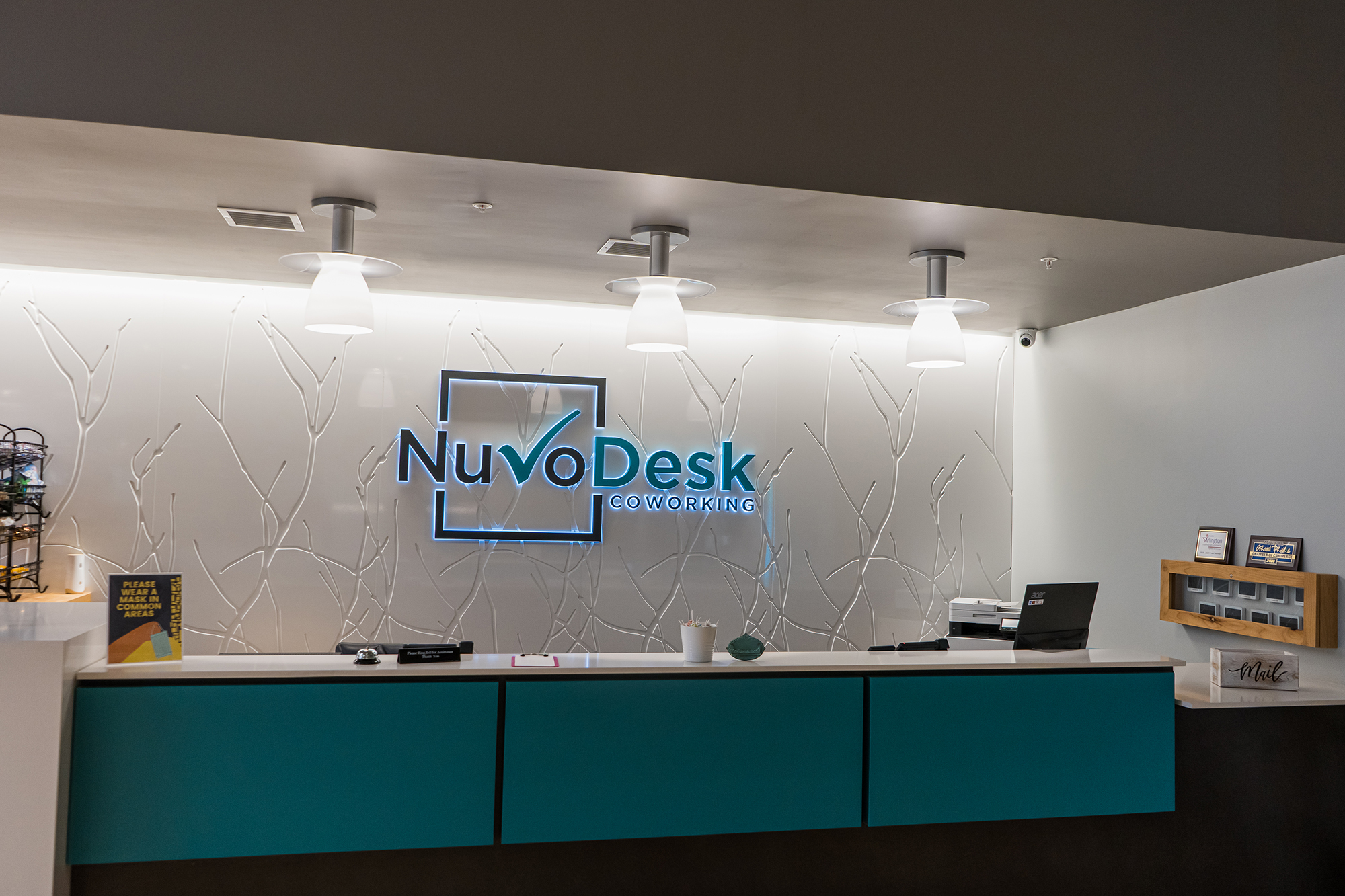 Nuvodesk front reception area