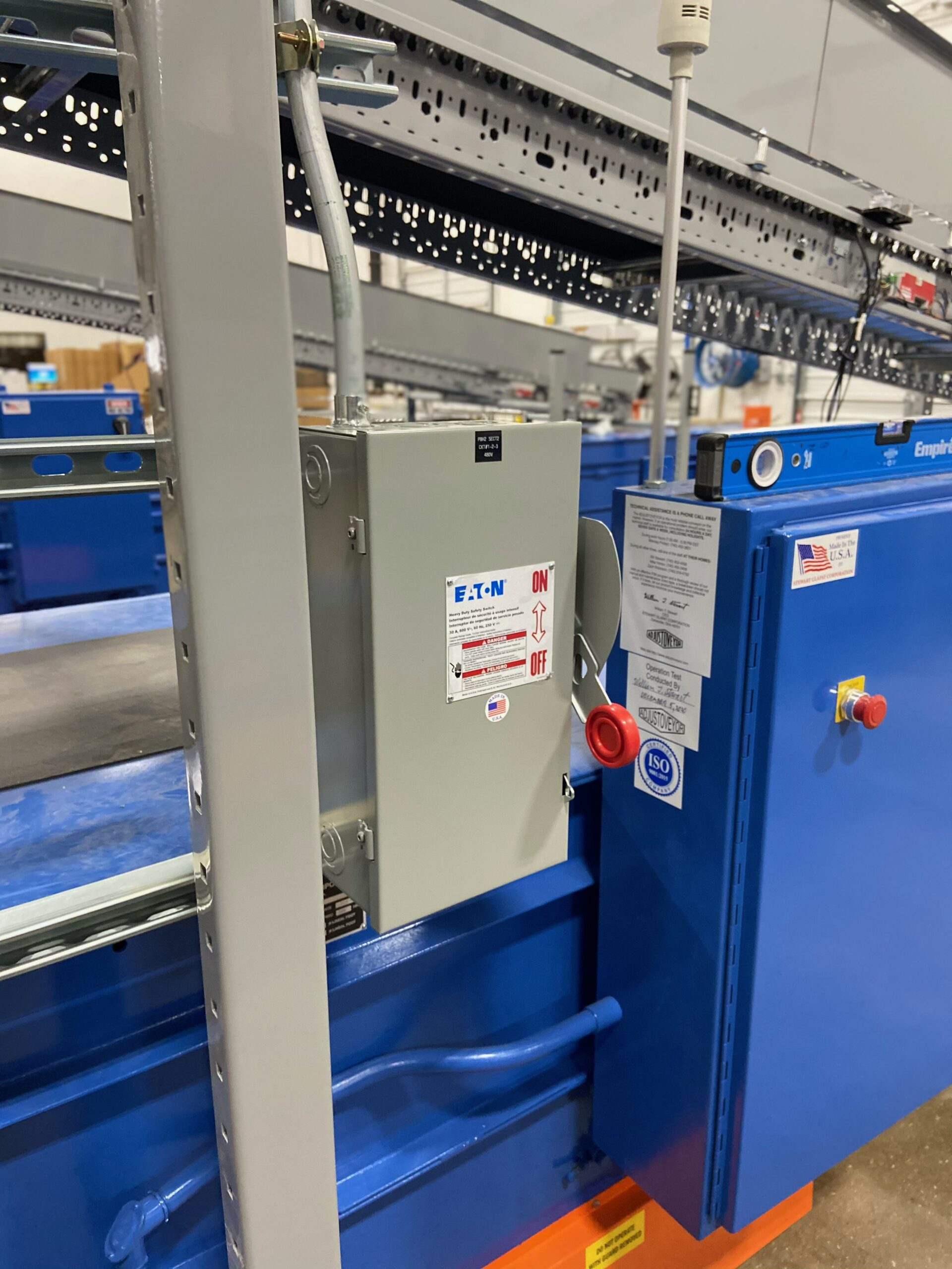 On/Off switch for conveyer belt